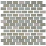 "Daltile Mosaic Traditions: Oasis 3/4"" x 1-1/2"" Glass Brick-joint Mosaic Tile BP98-34112BJMS1P"