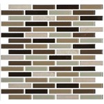 "Daltile Mosaic Traditions: Zen Escape 5/8"" x 3"" Glass Brick-joint Mosaic Tile BP96-583BJMS1P"