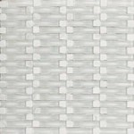 "Daltile Intertwine: Reflection 5/8"" x 2"" Glass Mosaic Tile F178-12BLENDMS1P"