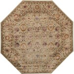 "Surya Ancient Treasures Feather Gray (A-117) Octagon 8'0"" x 8'0"""