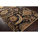 "Surya Ancient Treasures Coal Black (A-154) Square 1'6"" x 1'6"""