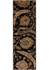 Surya Ancient Treasures Coal Black (A-154) Rectangle 2'6