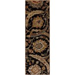 "Surya Ancient Treasures Coal Black (A-154) Rectangle 2'6"" x 8'0"""