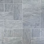 Faus Floor Masterpieces Collection: Cottage Slate Charcoal 10mm Laminate With Attached Pad F-780695