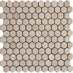 "MS International Crema Marfil Marble Mosaic 12"" x 12"" : SMOT-CREM-1HEX"