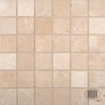 "MS International Crema Marfil Marble Mosaic 12"" x 12"" : SMOT-CREM-2X2-P"