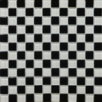 "Emser Lucente Glass Blends Mosaic 12.5"" x 12.5"" : Checker Mosaic Blend"