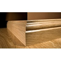 "Kahrs Linnea City Collection:  Wall Base Hard Maple Espresso - 96"" Long"