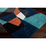 "Surya Cosmopolitan Teal (COS-9125) Rectangle 3'6"" x 5'6"""