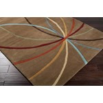 "Surya Forum Driftwood Brown (FM-7140) Kidney 8'0"" x 10'0"""