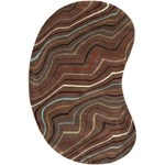 "Surya Forum Coffee Bean (FM-7155) Kidney 6'0"" x 9'0"""