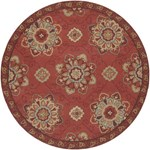 "Surya Rain Red Clay (RAI-1071) Round 8'0"" x 8'0"""