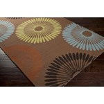 "Surya Rain Coffee Bean (RAI-1086) Square 1'6"" x 1'6"""